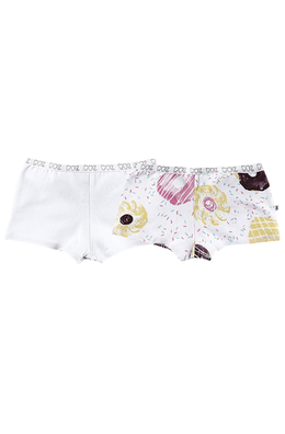 Kit Com 2 Calcinhas Shortinho Infantil Feminina