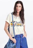 T-Shirt Cropped Com Bordado