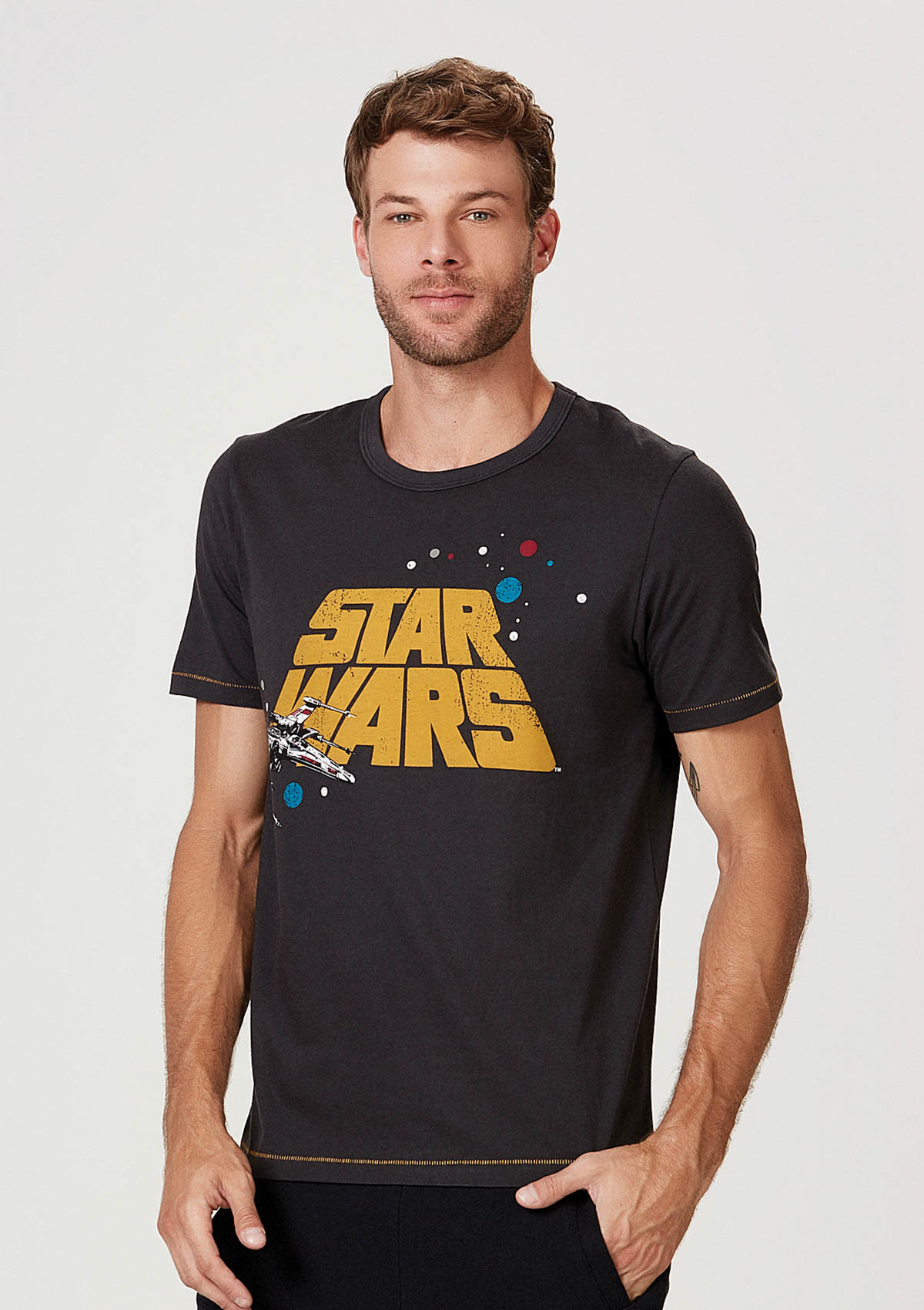Camiseta Manga Curta Star Wars
