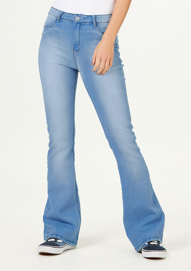 Calça Jeans Feminina Sculpted Flare Push Up | Hering