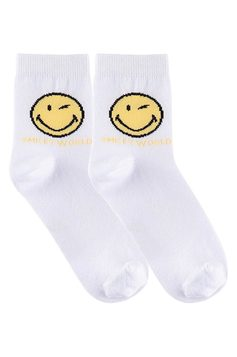 Meia Unissex Infantil Cano Longo Smiley | Outlet