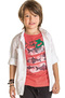 Camiseta Infantil Masculina Slim Com Patch Puc | Outlet