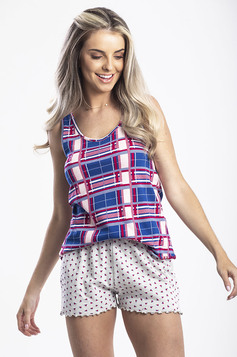 Pijama Feminino Com Regata E Shorts Estampados | Outlet