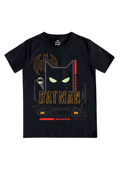 Camiseta Infantil Unissex Manga Curta Estampa Batman | Kids