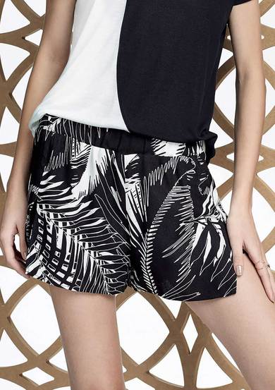 Shorts Estampado Em Tecido De Viscose Hering For You | Hering