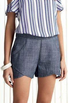 Shorts Jeans Na Base Pin Up Loose Dzarm | Outlet