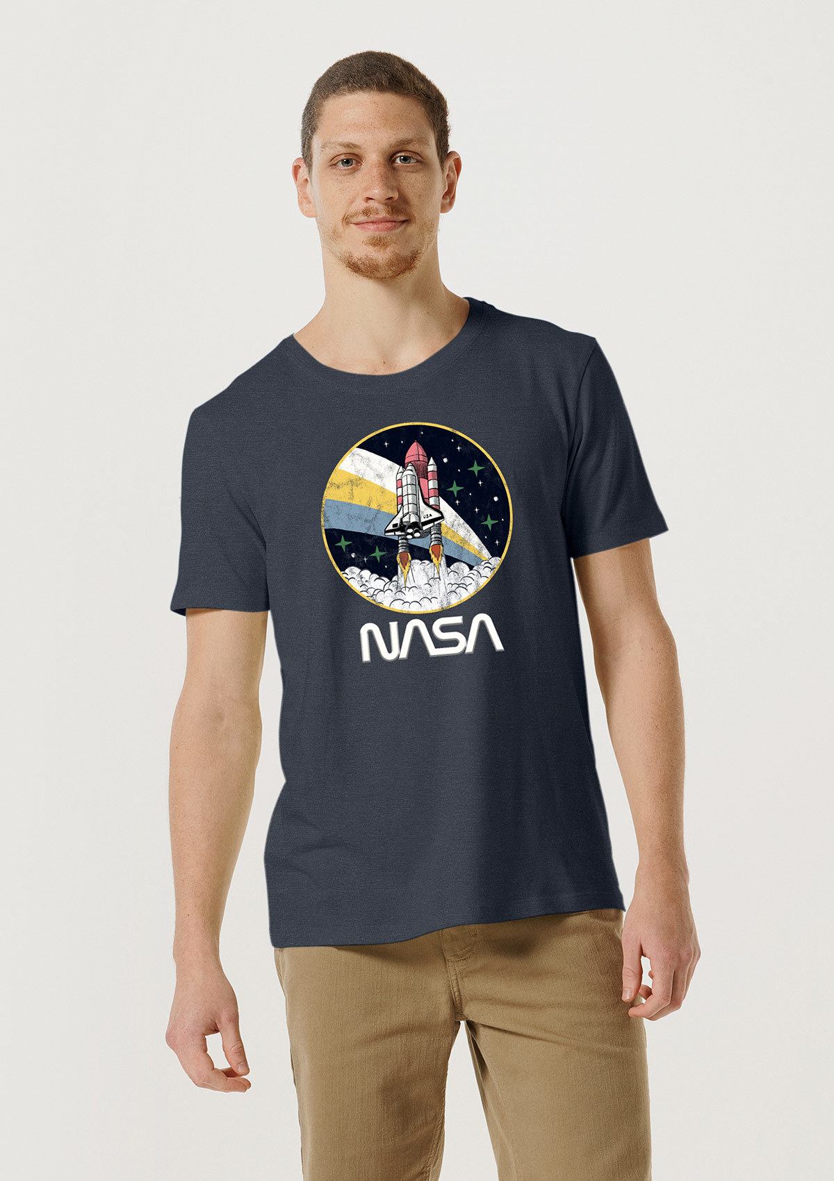 Camiseta Unissex Com Estampa Nasa