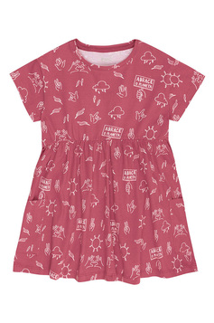 Vestido Infantil Estampado Amigos Do Planeta | Outlet