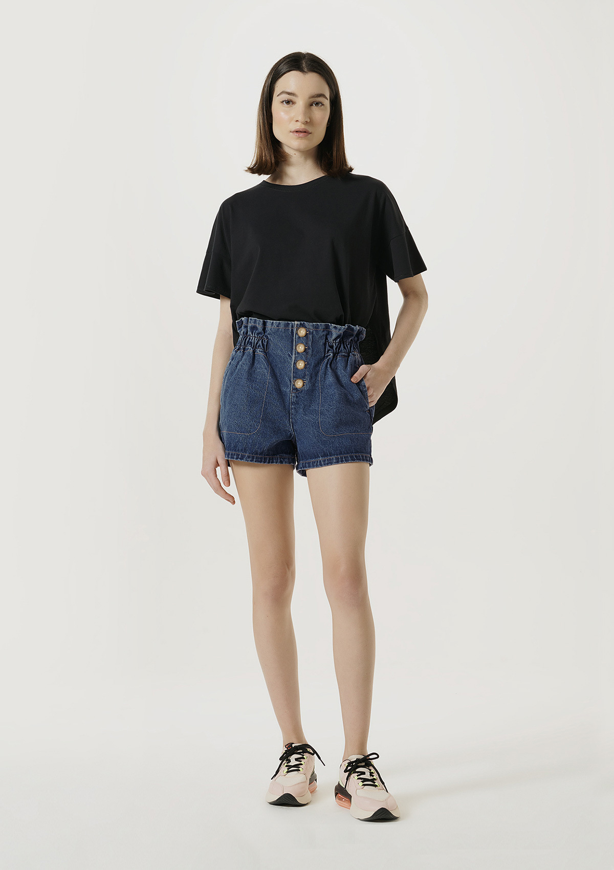Shorts Jeans Feminino Clochard