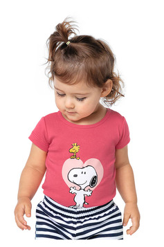 Body Bebê Unissex Com Estampa Localizada Snoopy E Hering Kids | Outlet