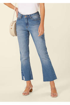 Calça Jeans Boot Cut Cropped | Outlet