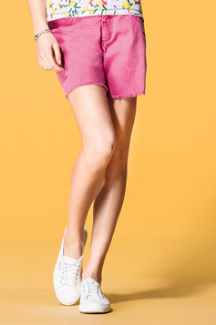Shorts Feminino Colorido Em Jeans | Outlet
