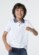 Camisa Polo Infantil Menino Com Estampa Mini Print Dia Do Pais Hering Kids