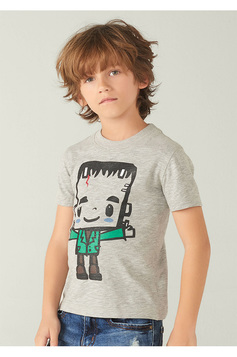 Camiseta Infantil Menino Dupla Face Little Monsters | Outlet