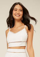 Regata Top Cropped De Renda