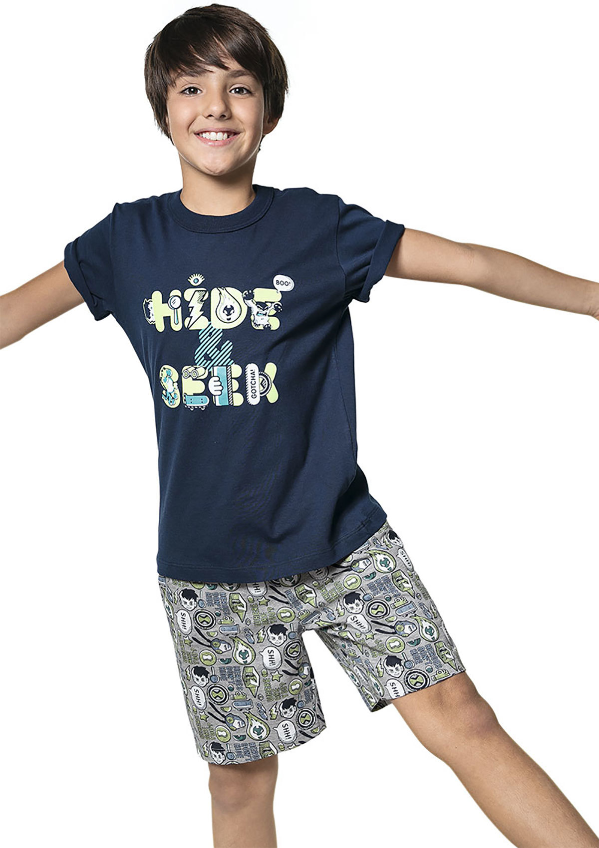 Pijama Infantil Menino Hering Kids E Cartoon Network