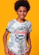 Camiseta Infantil Menino Flamê Estampado Do Avesso Hering Kids