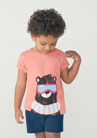 Camiseta Infantil Menino Manga Curta Com Estampa Toddler | Kids