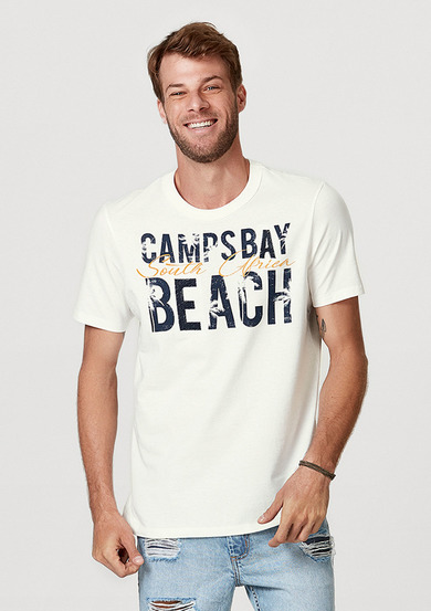 Camiseta Masculina Regular Com Bordado | Hering