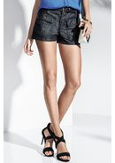 Shorts Jeans Feminino Na Base Pin Up Loose Com Bolsos Frontais