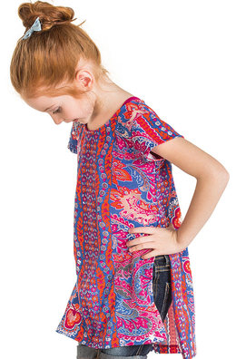Twin Set Infantil Feminino Com Blusa Alongada E Top Puc