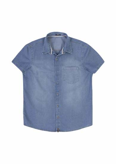 Camisa Jeans Masculina Com Bolso Frontal | Hering