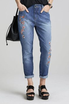 Calça Jeans Na Base Istambul Com Bordado | Outlet