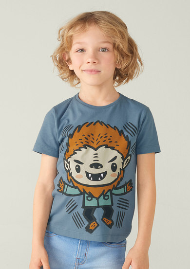 Camiseta Infantil Menino Little Monsters | Puc