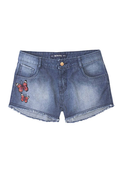 Shorts Summer Jeans Feminino Hering Com Patches | Hering