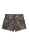 Shorts Em Sarja Pin Up Loose Com Estampa Animal Print E Aplicações | Outlet