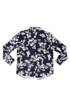 Camisa Tropical Estampada Masculina Manga Longa | Outlet
