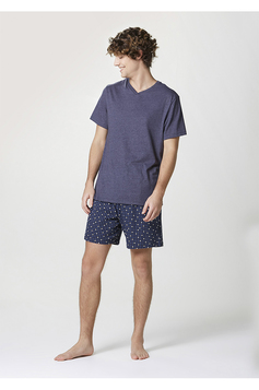 Pijama Curto Masculino Estampado | Outlet