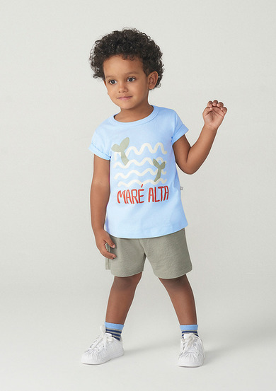 Conjunto Manga Curta Menino Com Shorts Toddler | Kids